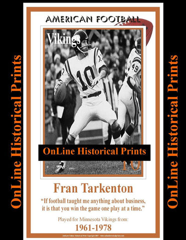 Fran Tarkenton -Brown Collection