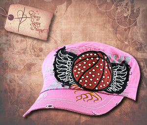 Cap with Basketball - Pink