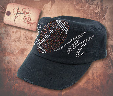 Cap with Football MOM - Black