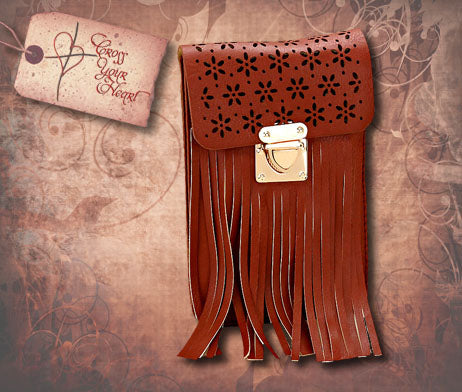 Smartphone Mini Crossbody Bag - Brown