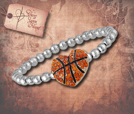 Beaded Basketball Bracelet