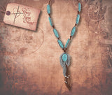 Feather Accent Turquoise Necklace