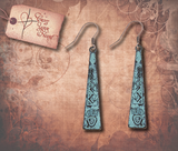 Tribal Bear Claw Etched Earrings - Antique Gold
