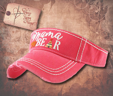 Visor with Mama BEAR - Red