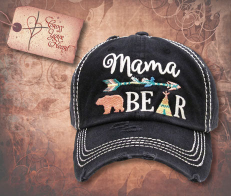 Cap with Mama BEAR - Black