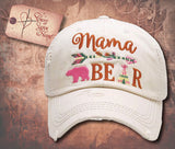 Cap with Mama BEAR - Cream White