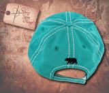 Cap with Mama Bear - Turquoise