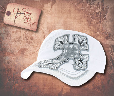 Cap with Cross - Children's White
