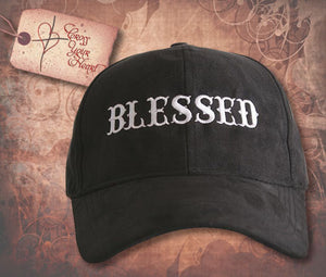 "Cap with ""BLESSED"" - Black"