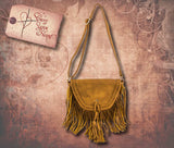 Leather Crossbody Bag - Tan