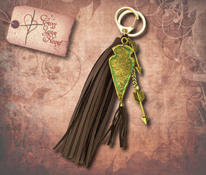Arrowhead & Tassel Key Ring