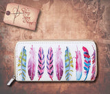 Feather Print Wallet