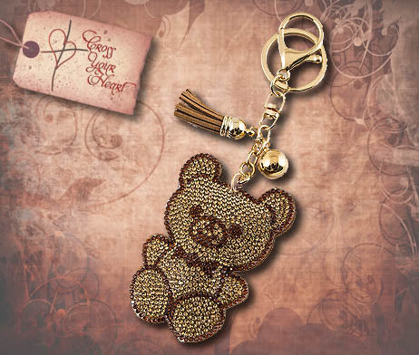 Crystal Bear Key Ring