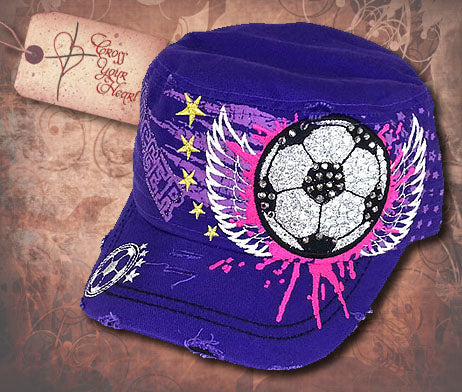 Cap with Soccer Ball - Purple