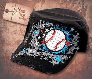 Cap with Baseball - Black