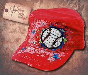 Cap with Baseball - Red