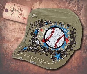 Cap with Baseball - Tan