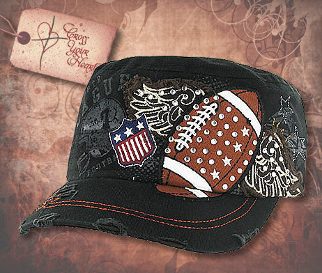 Cap with Football - Black