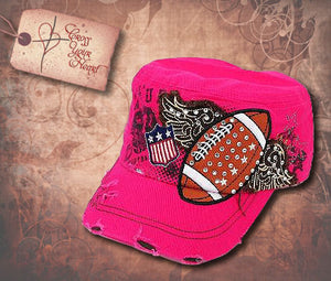 Cap with Football - Pink