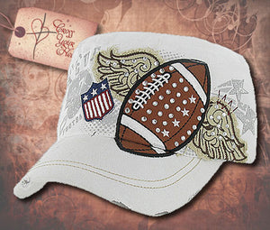 Cap with Football - White