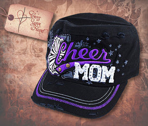 Cap with Cheer MOM - Black