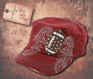 Cap with Football - Burgundy