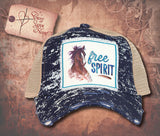 "Cap with Horse and ""free SPIRIT"" - Navy"