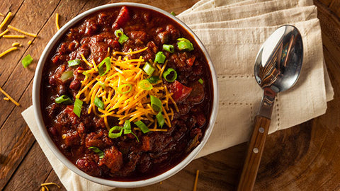Vegetable Chili SUPERBowl with Cornbread