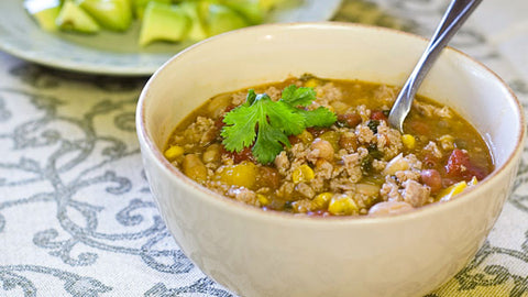 Spicy White Bean Turkey Chili SUPERBowl