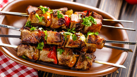 Pecorino Romano Turkey Kabob