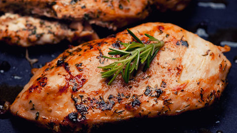 Grilled Chicken Breast with Sweet and Spicy Veggies