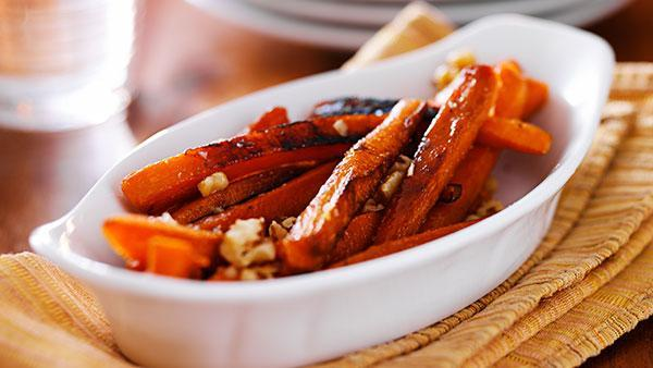 Chargrilled Salmon and Honey Roasted Carrots - Homebistro