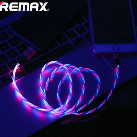 REMAX Ultimate Edition Luminous Series Lightning Data Cable White