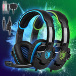 SADES SA819 Extra Bass Gaming Headset For Xbox One PS4 PC Laptop Mac (3.55mm) Blue