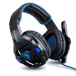 SADES SA903 7.1 Channel Virtual USB Noise Cancelling Gaming Headset Blue
