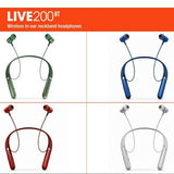 JBL Live 200 BT Wireless in-Ear Neckband Headphones with Three-Button Remote and Microphone