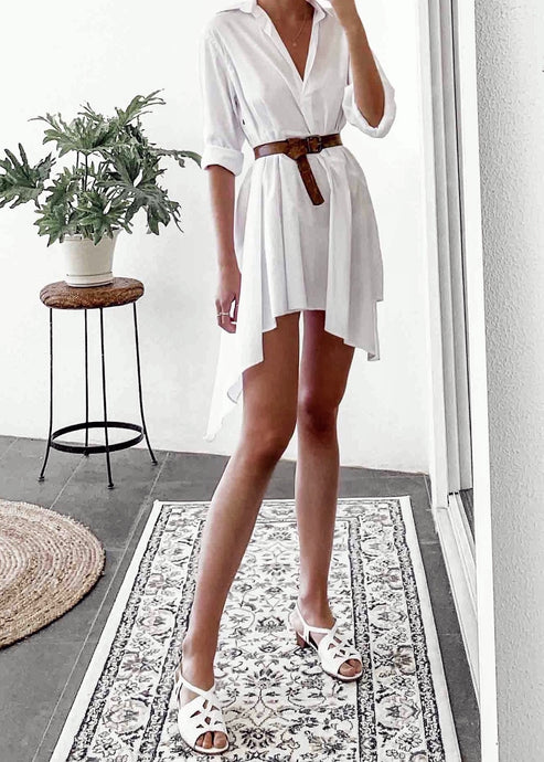 White Blouse Dress