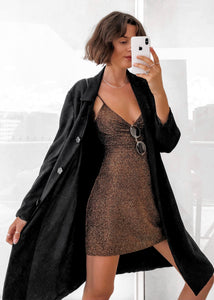 Black Longline Soft Jacket