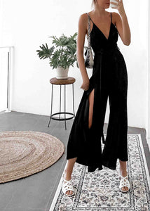 Black Split Jumpsuit
