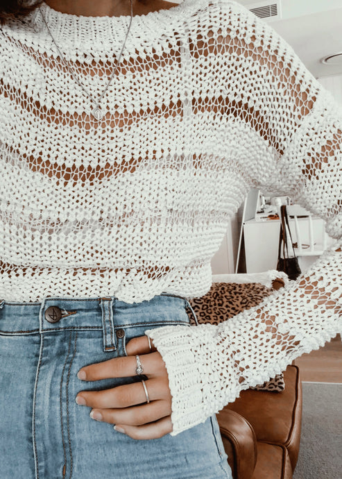 Crochet Knit Jumper
