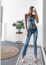 Denim Cropped Flare Jeans