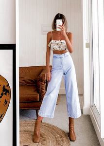 High Waisted Denim Pants