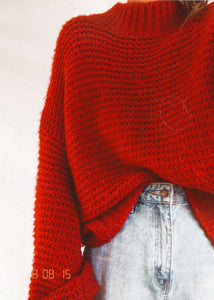 Knitted Red Jumper