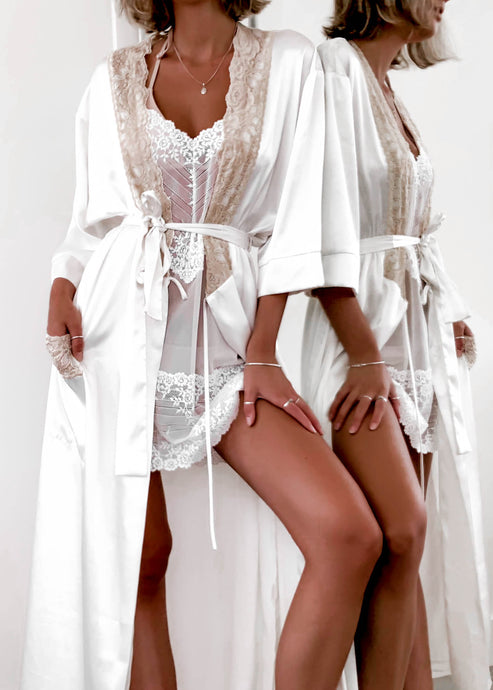 Vintage Silk Lace Robe
