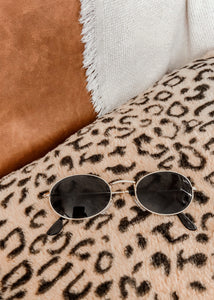 Gold Frame Oval Sunglasses