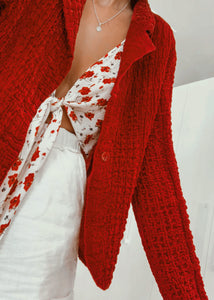 Red Blouse Jacket