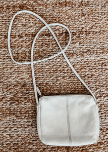 White Leather Crossbody Bag