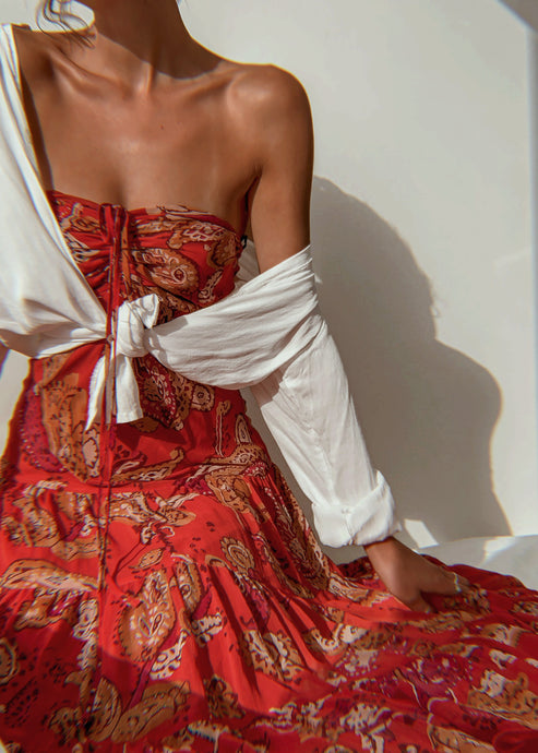 Paisley Halter Midi Dress