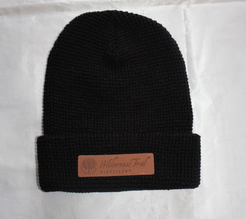WTD beanie with leather patch