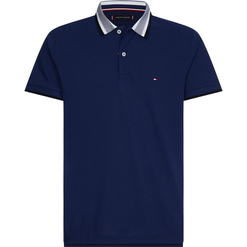 Tommy Plaited Collar Polo